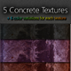 5 Concrete Textures - GraphicRiver Item for Sale
