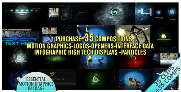 After Effects Project - VideoHive Motion Graphics Displays And Particles Bundle Pack 2478023