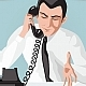 Businessman talking by telephone - GraphicRiver Item for Sale
