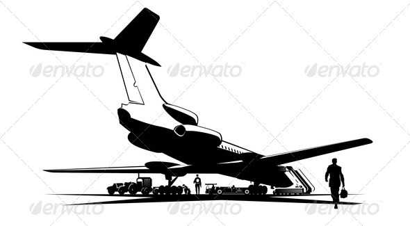 GraphicRiver Airplane at Runway 2479158