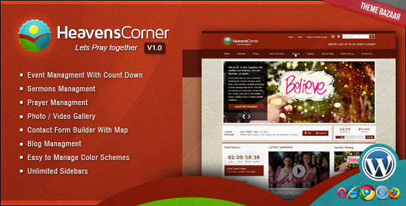 ThemeForest Heaven's Corner Church Theme 2480560