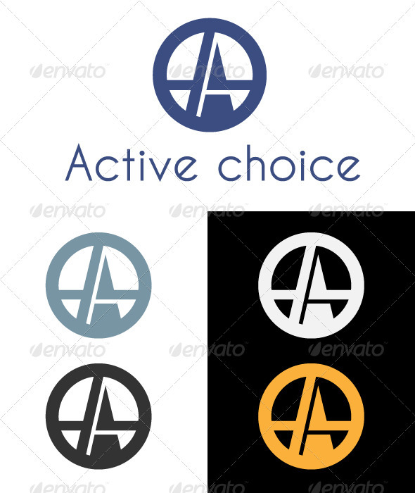 Active Choice Logo - Letters Logo Templates