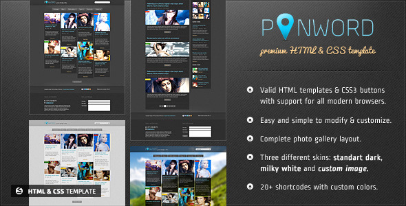 Pinword - Personal and Blog Template