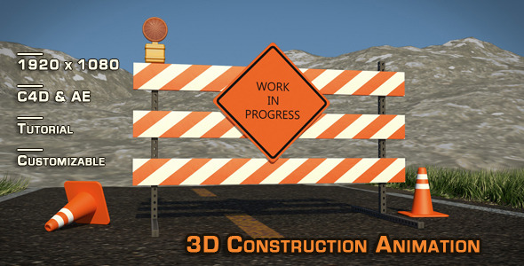 """Site Construction"" 3D Animation & Models - 3DOcean Item for Sale"