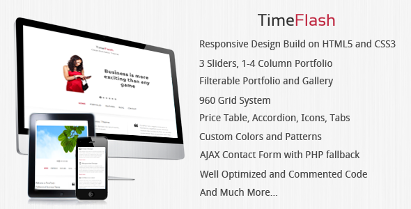 TimeFlash - Clean & Responsive Website Template