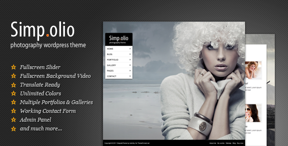 Simpolio - Fullscreen Portfolio & Blog WP Theme