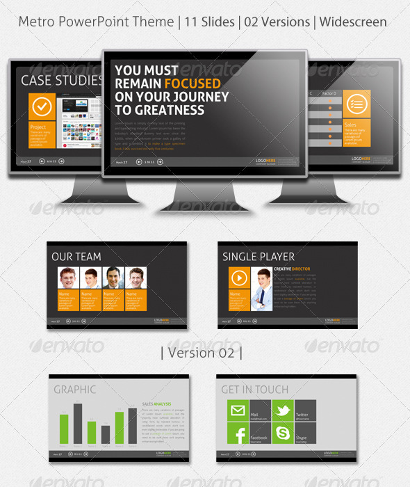 GraphicRiver Metro PowerPoint Presentation 2460170