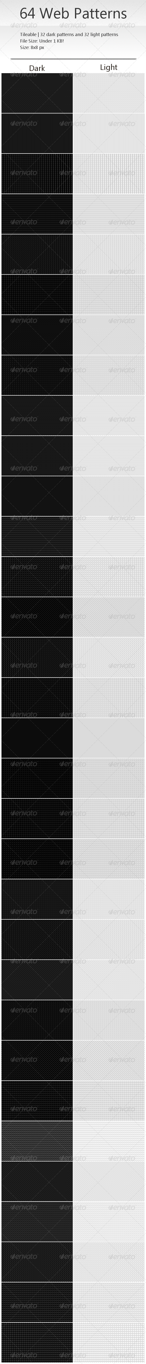 GraphicRiver 64 Tileable Pixel Web Patterns 2471821