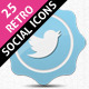 25 Retro Social Icons Badge/Label Pack - GraphicRiver Item for Sale
