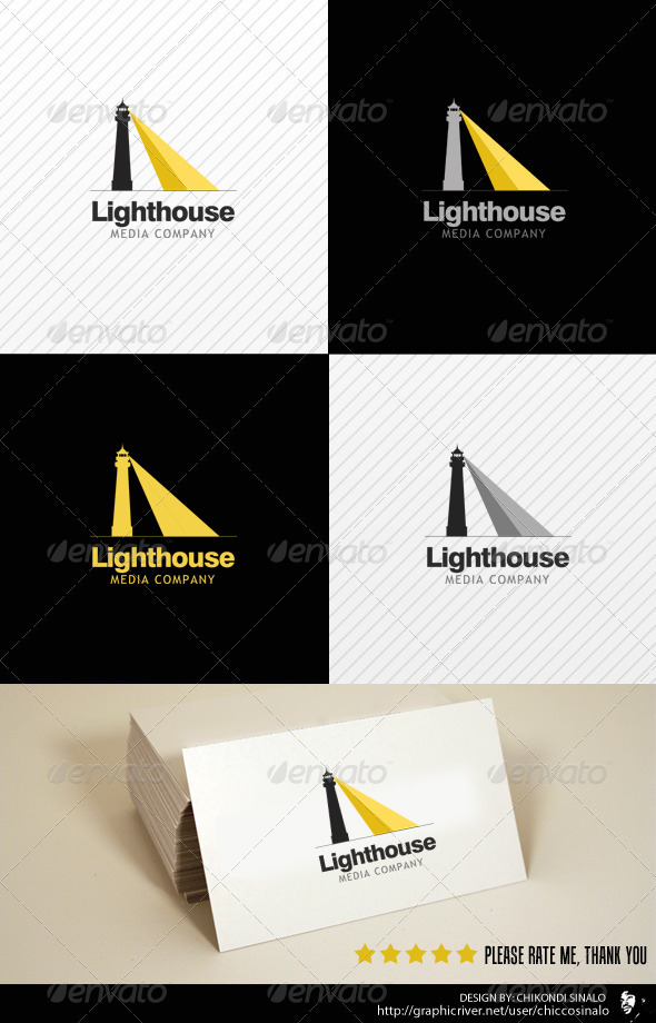 Lighthouse Media Logo Template - Buildings Logo Templates