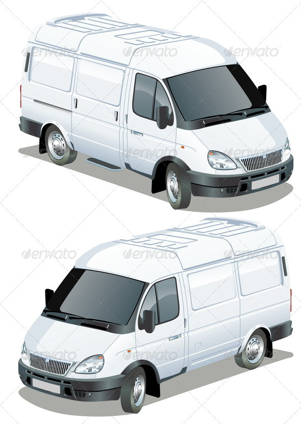 Delivery Van Isometric Set - Man-made objects Objects