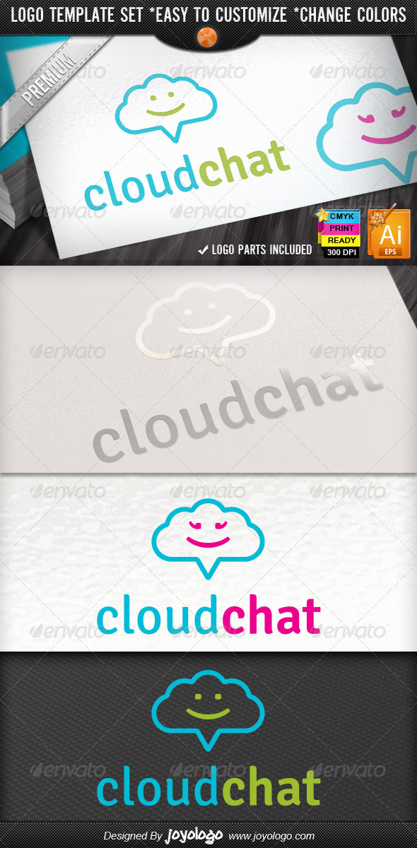 Social Media Application Chat Cloud Internet Logo - Symbols Logo Templates