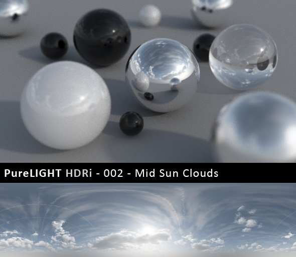 PureLIGHT HDRi 002 - Mid Sun Clouds - 3DOcean Item for Sale