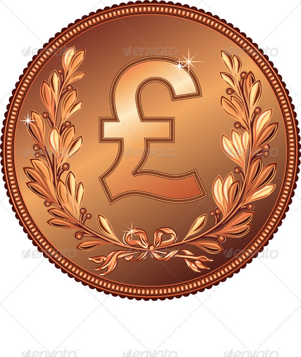 Vector Gold Money Pound Coin - Concepts Business