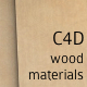 12 C4D Wood Materials - 3DOcean Item for Sale
