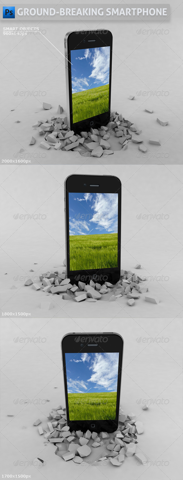 Ground-Breaking Smartphone Mockup - Mobile Displays