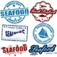 Seafood stamps - GraphicRiver Item for Sale
