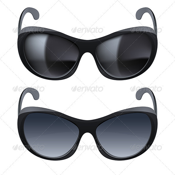 Realistic sunglasses - Objects Vectors