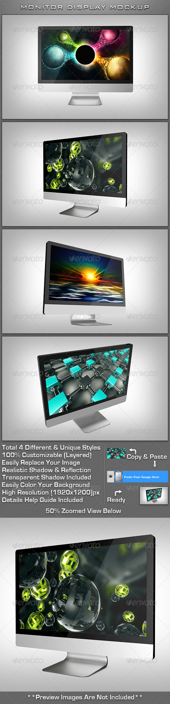 Monitor Display MockUp - Monitors Displays