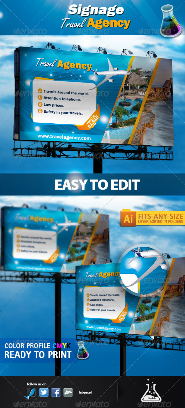 GraphicRiver Signage Travel Agency 2475172