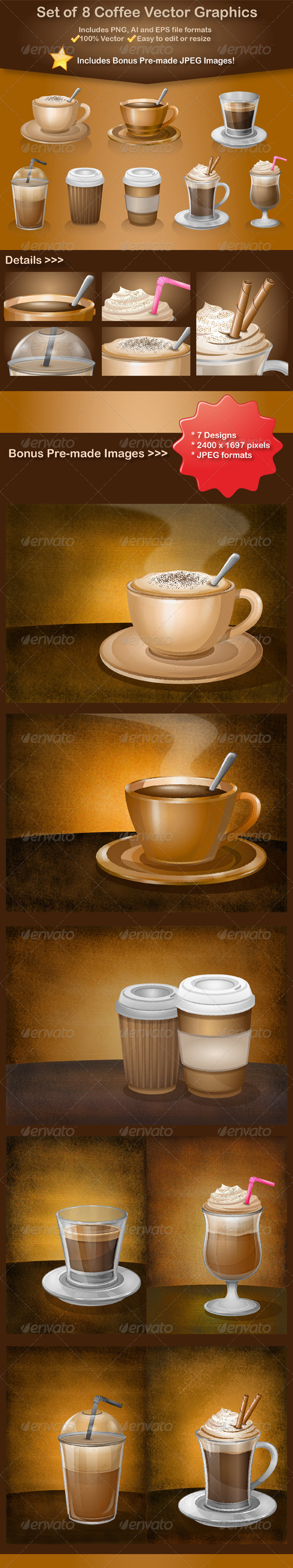 Coffee Vector Graphics - Food Objects