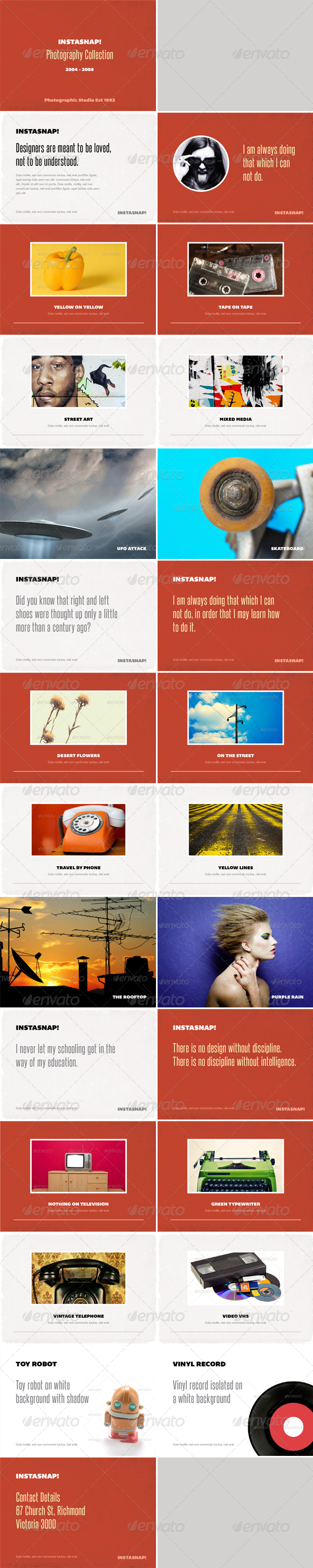 GraphicRiver Instasnap Photo Album or Folio Template 2493814