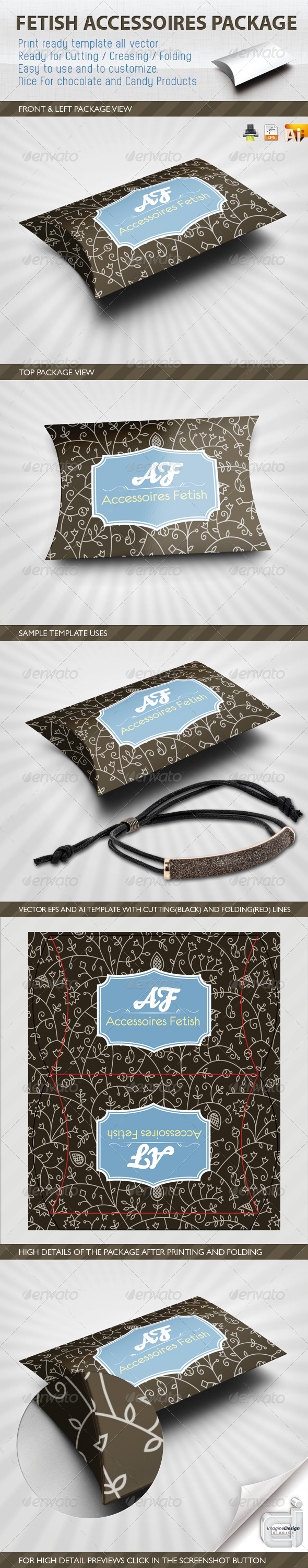 Accessory Fetish Package Template - Packaging Print Templates