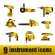 Electric instrument icons. - GraphicRiver Item for Sale