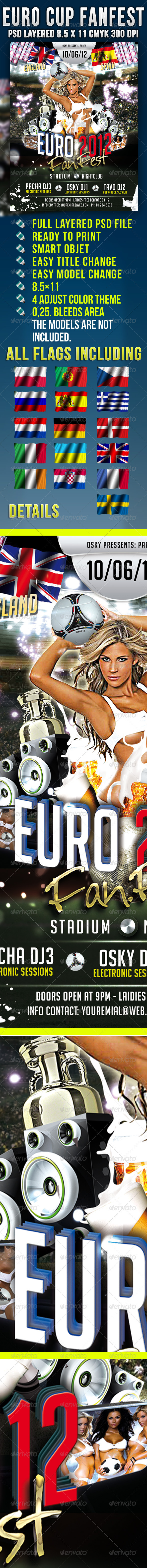 Euro Cup Funfest  - Events Flyers