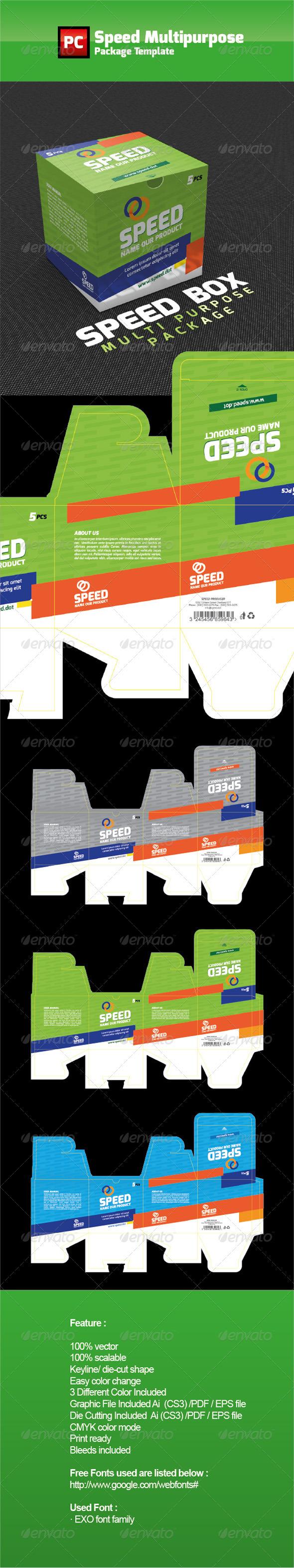 Speed Multipurpose Package Template 包装设计源文件