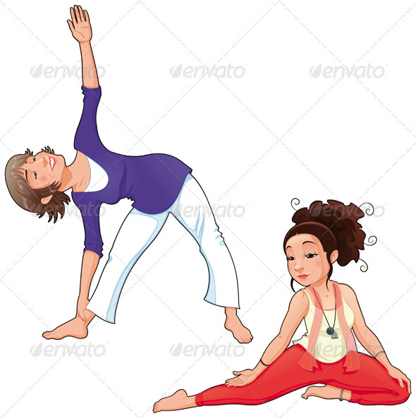 Yoga Positions. - Sports/Activity Conceptual