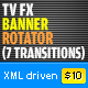 XML TVFX Banner Rotator  + 7 transitions effects - ActiveDen Item for Sale