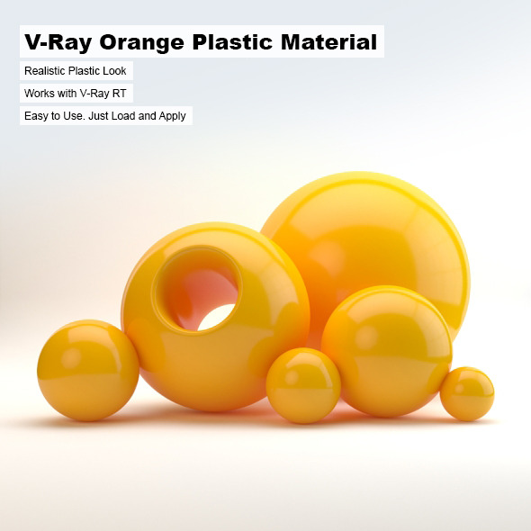 V-Ray Orange Plastic Material - 3DOcean Item for Sale