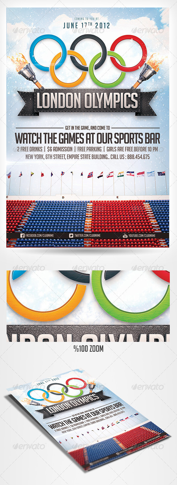GraphicRiver 2012 Olympics sports flyer 2498762