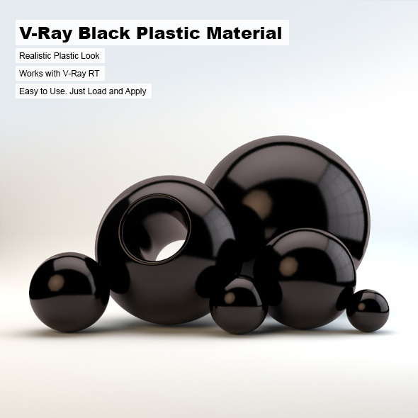 V-Ray Black Plastic Material - 3DOcean Item for Sale