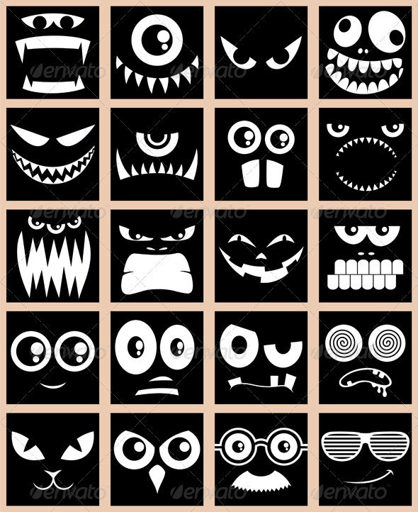 Avatars – Black - Web Elements Vectors