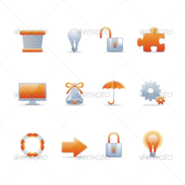 GraphicRiver Glossy icon set 3 91375