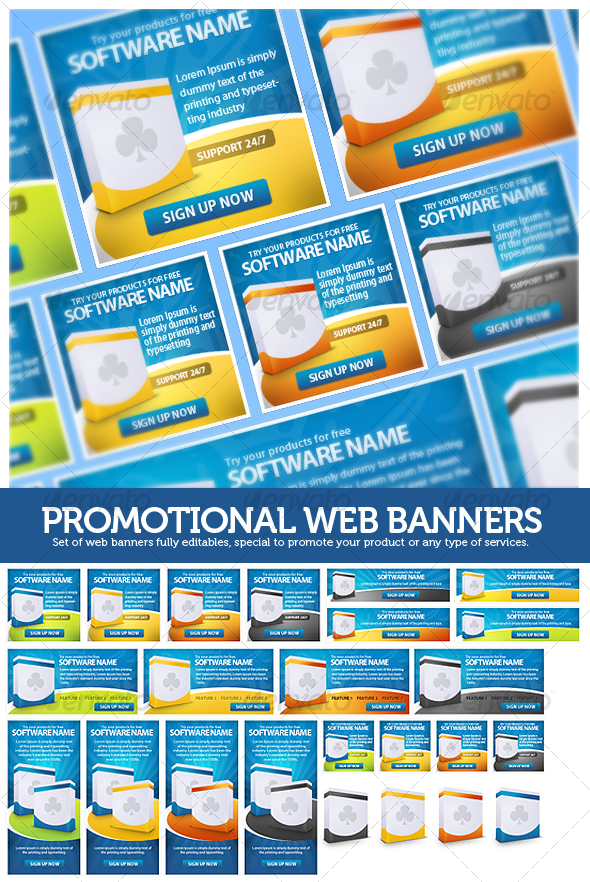 Promotional Web Banners - Web Elements