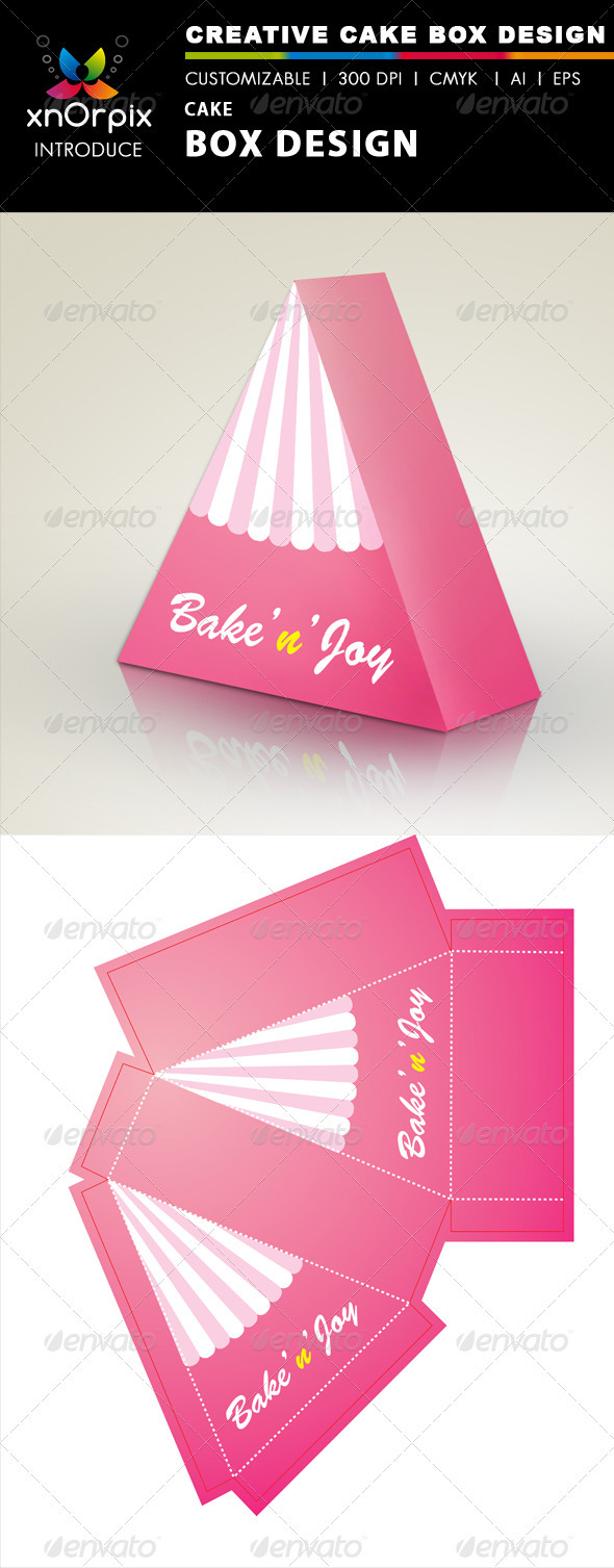 Cake Box - Packaging Print Templates