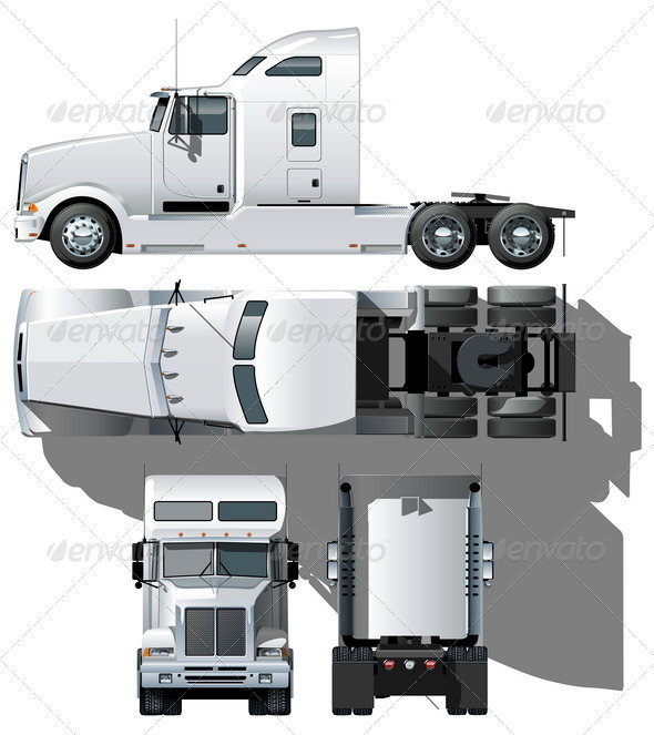 GraphicRiver Semi Truck 2502484