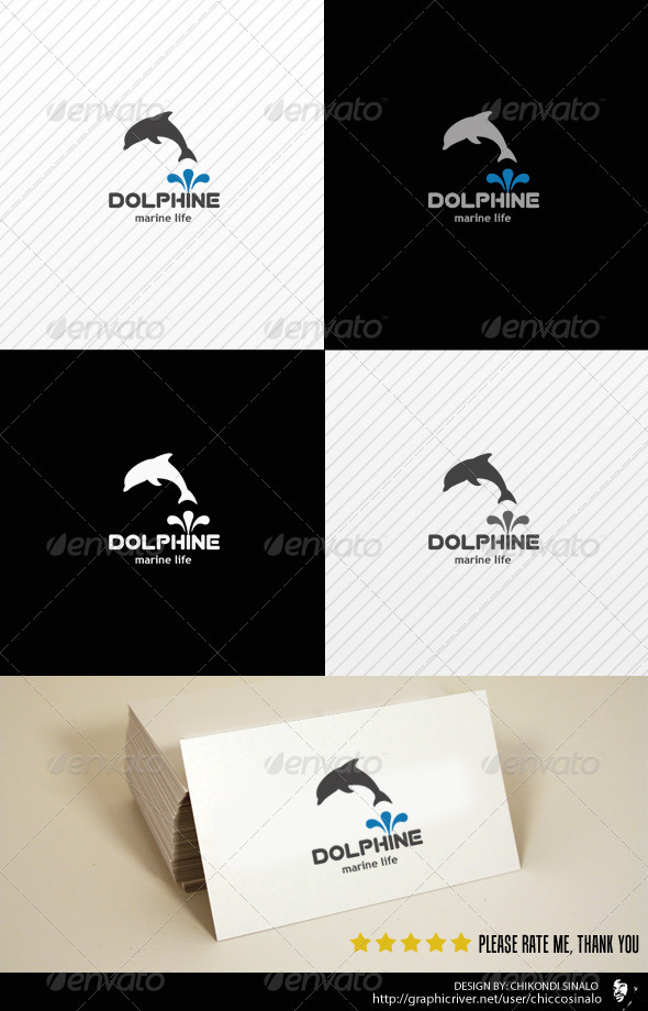 GraphicRiver Dolphine Logo Template 2502942