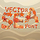 Vector Sea Font - GraphicRiver Item for Sale