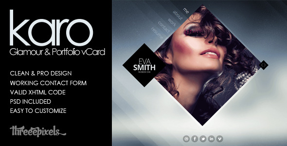 Karo - Virtual Business Card Template