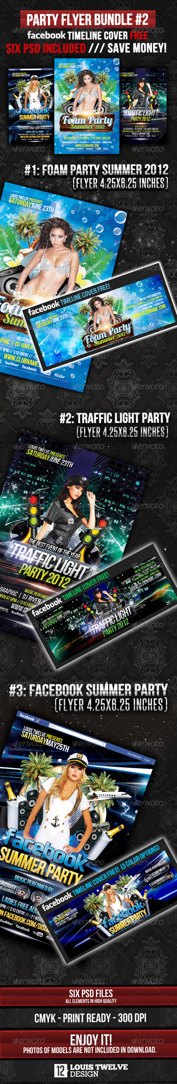 GraphicRiver Party Flyer Bundle 02 & Facebook Timeline 2503918