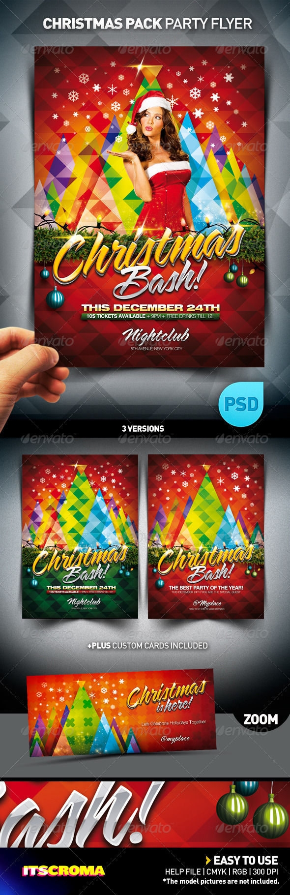 GraphicRiver Christmas Bash Party Flyer Pack 769397