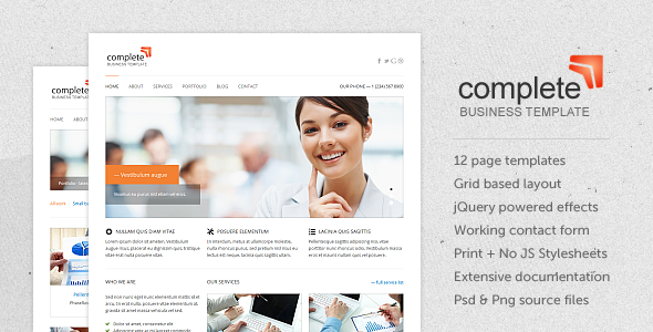 Complete - Business / Corporate xHTML Template