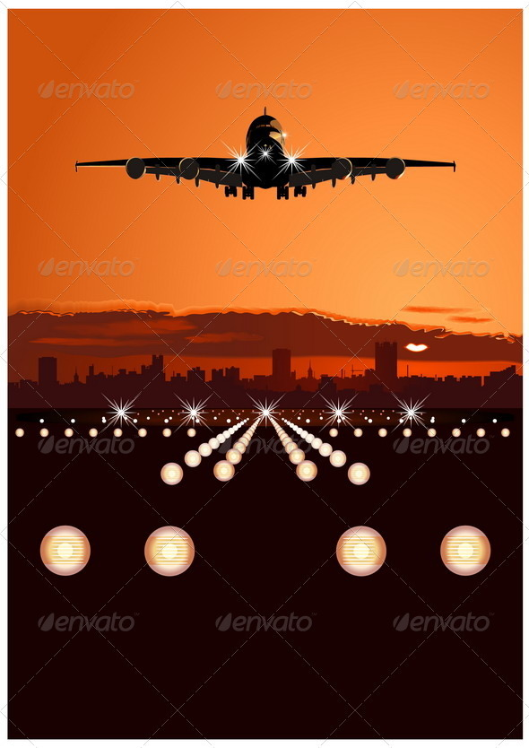 GraphicRiver Airbus at Sunset 2506156