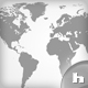 World Map - Classic Black / White and Lined - GraphicRiver Item for Sale