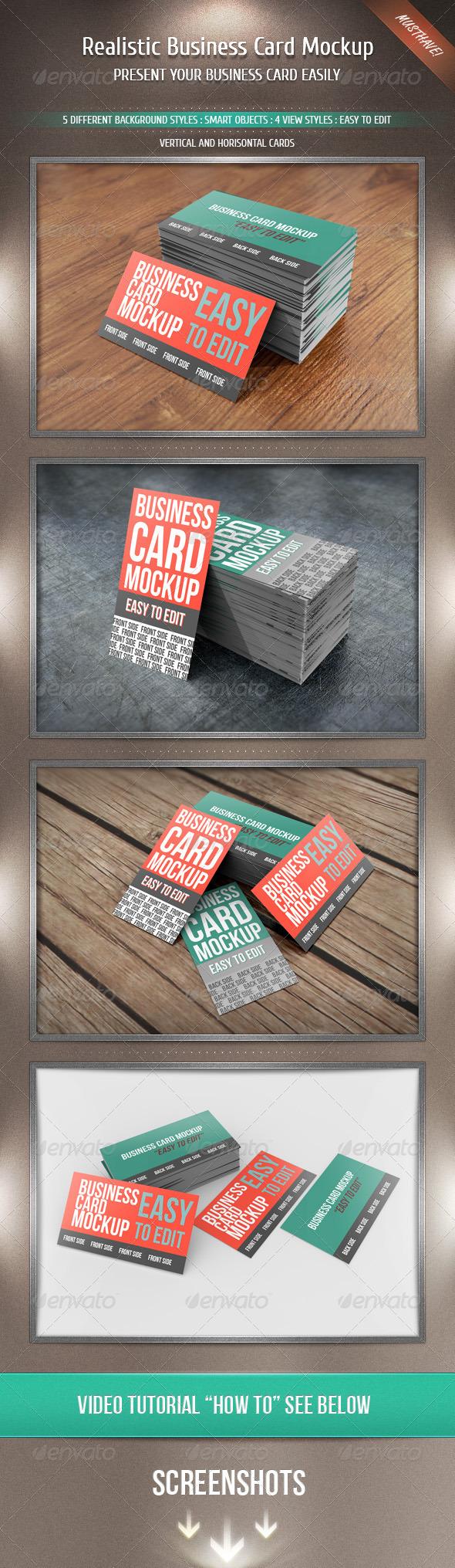 GraphicRiver Realistic Business Card Mockup 2506978