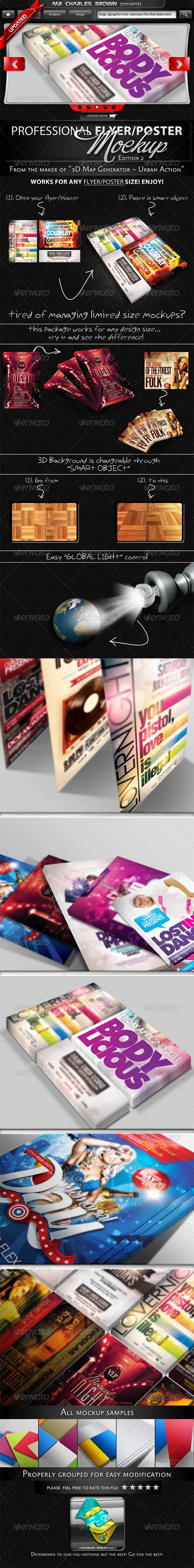 Professional Flyer &amp; Poster Mockup Bundle 2 - Flyers Print